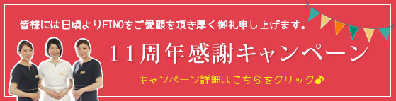 群馬県隠れ家サロン,FINO(フィーノ),11周年キャンペーン